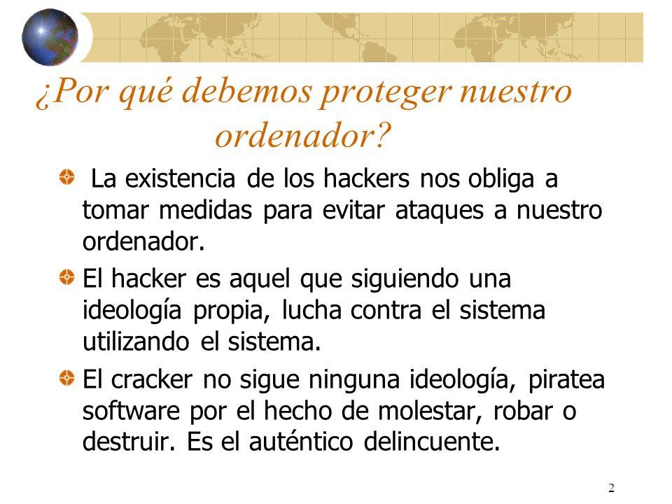 33 Métodos de defensa Funcionamiento de la seguridad en las intranets: -Primera línea de defensa: Firewall.