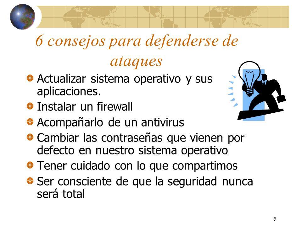 6 Principales puntos vulnerables del sistema El control de acceso al router (ACL) mal configurado.