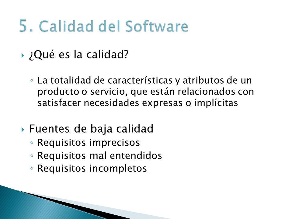 ¿Qué es la calidad? La totalidad de características y atributos de un producto o servicio, que están relacionados con satisfacer necesidades expresas