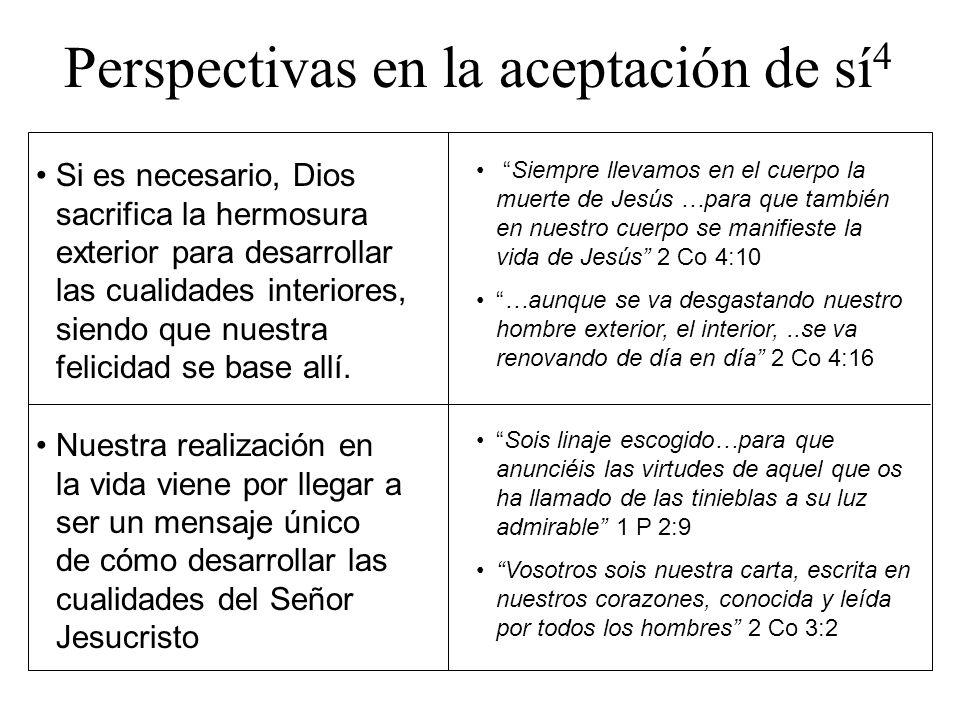 Perspectivas en la aceptación de sí 4 Si es necesario, Dios sacrifica la hermosura exterior para desarrollar las cualidades interiores, siendo que nue