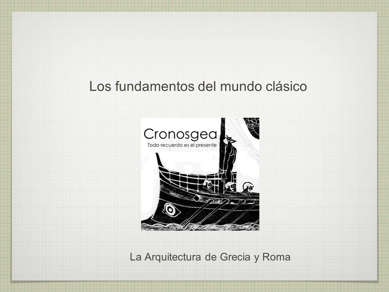 PROYECTO CRONOSGEA La Arquitectura Griega