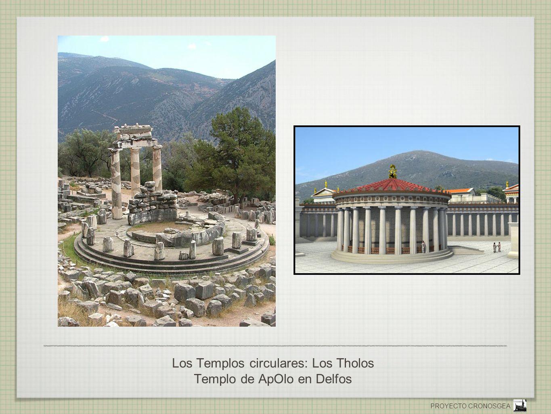 PROYECTO CRONOSGEA Los Templos circulares: Los Tholos Templo de ApOlo en Delfos