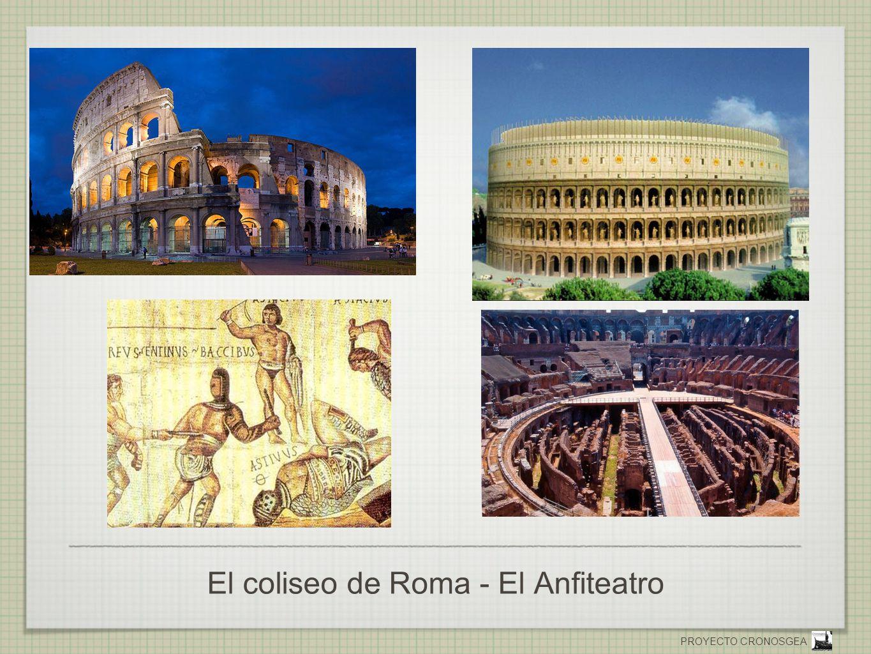 PROYECTO CRONOSGEA El coliseo de Roma - El Anfiteatro