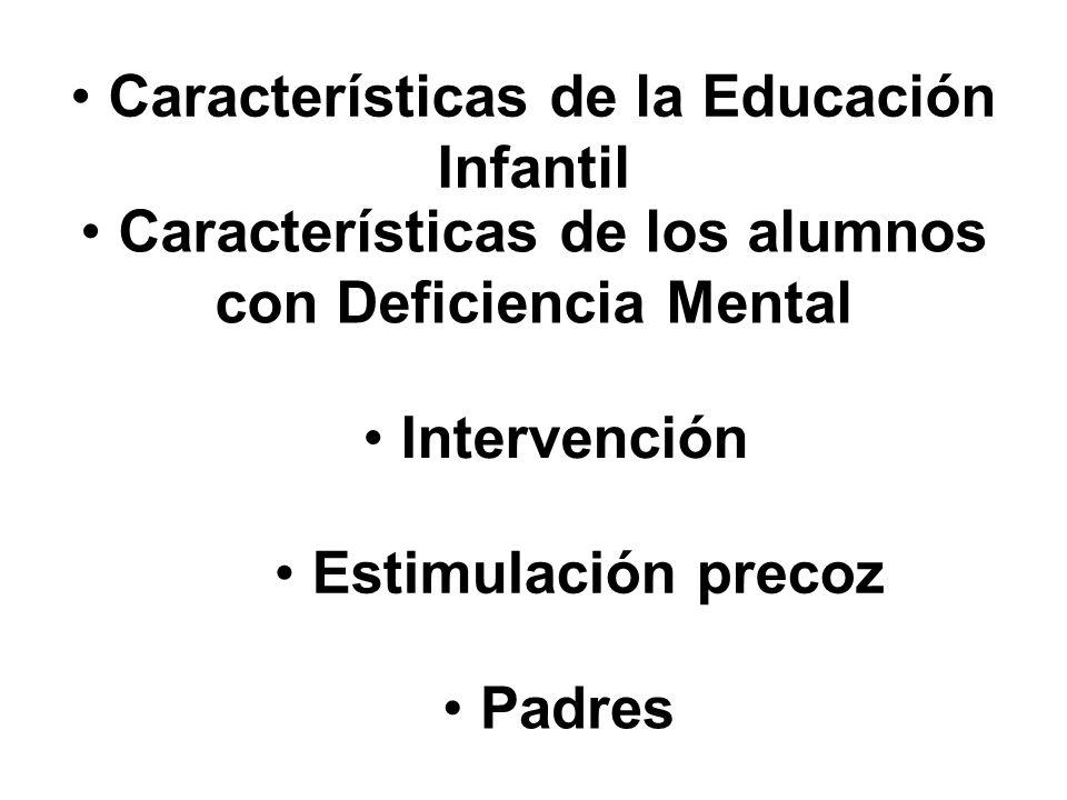 Características de la Educación Infantil Principios Fines Objetivo s Contenidos Educativos Enseñanzas mínimas del segundo ciclo Evaluación Atención a la Diversidad