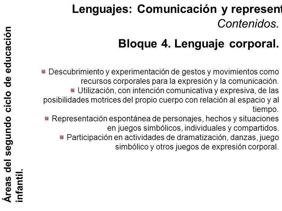Lenguajes: Comunicación y representación. Áreas del segundo ciclo de educación infantil. Contenidos. Descubrimiento y experimentación de gestos y movi