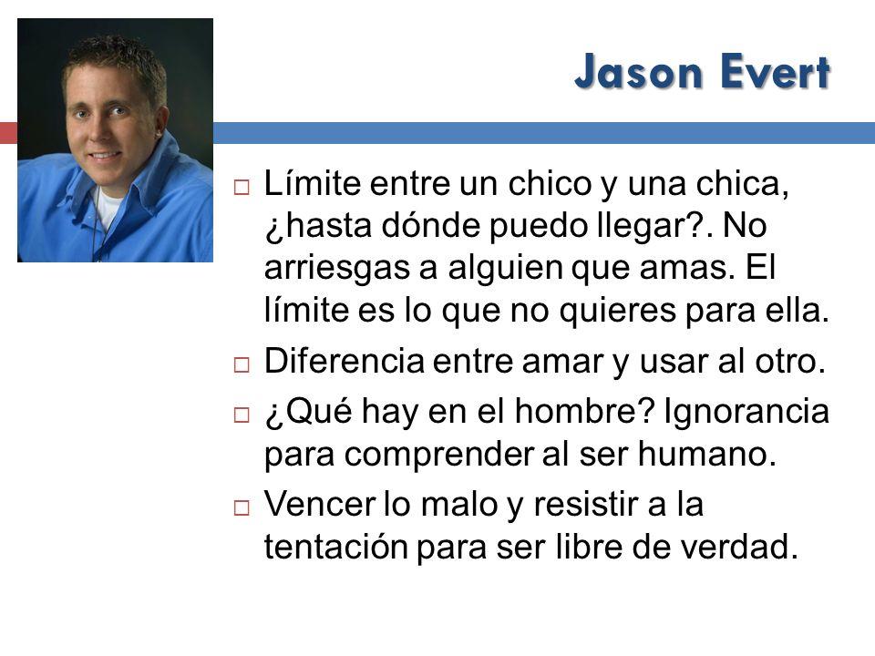 Jason Evert Límite entre un chico y una chica, ¿hasta dónde puedo llegar?. No arriesgas a alguien que amas. El límite es lo que no quieres para ella.