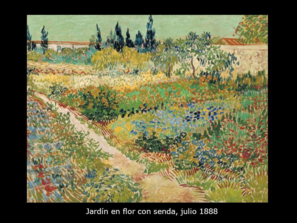 Jardín en flor con senda, julio 1888