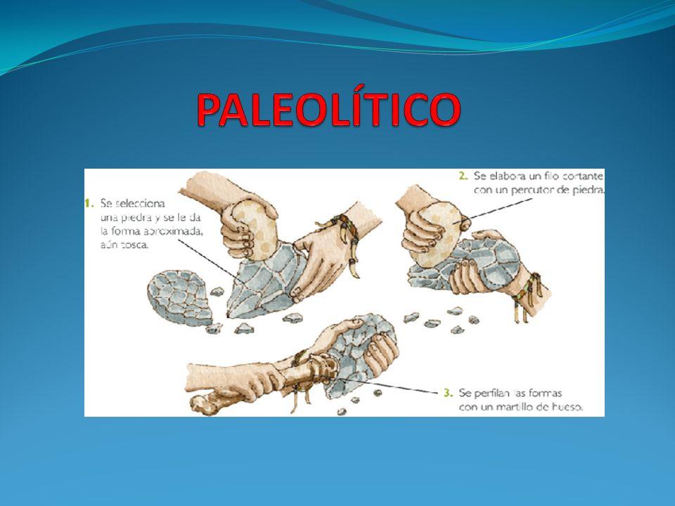 PALEOLÍTICO: El paleolítico significa edad de piedra.