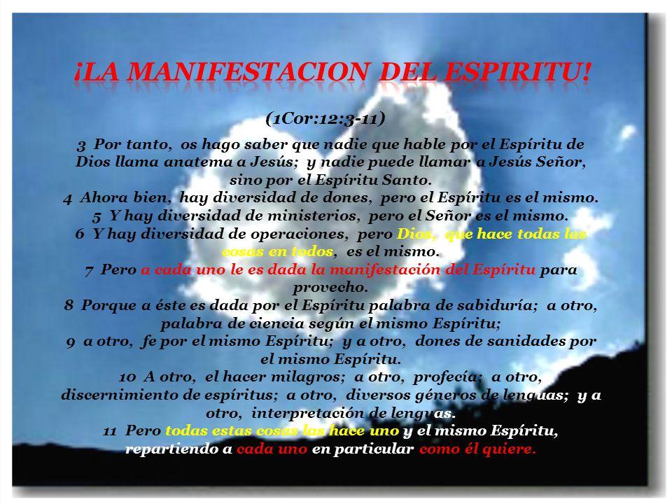 (2Cor: 3:17) Porque el Señor es el Espíritu; (Luc: 2:11) En la aparicion de Los Angeles a los pastores, les fue dicho...