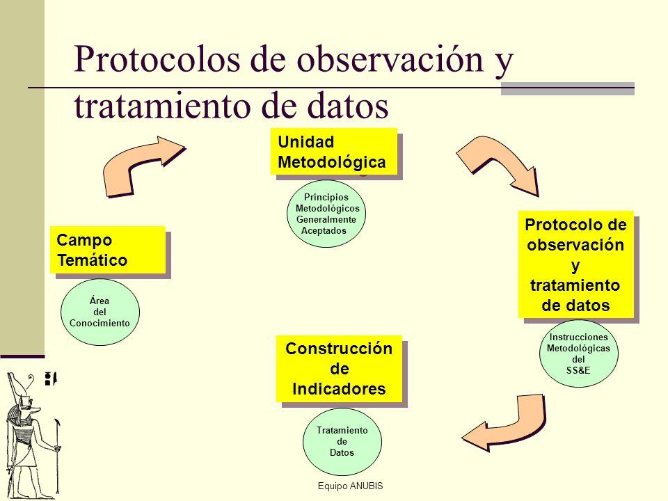 Equipo ANUBIS Protocolos de observación y tratamiento de datos Campo Temático Área del Conocimiento Unidad Metodológica Principios Metodológicos Gener