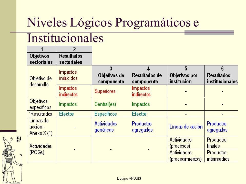 Equipo ANUBIS Niveles Lógicos Programáticos e Institucionales