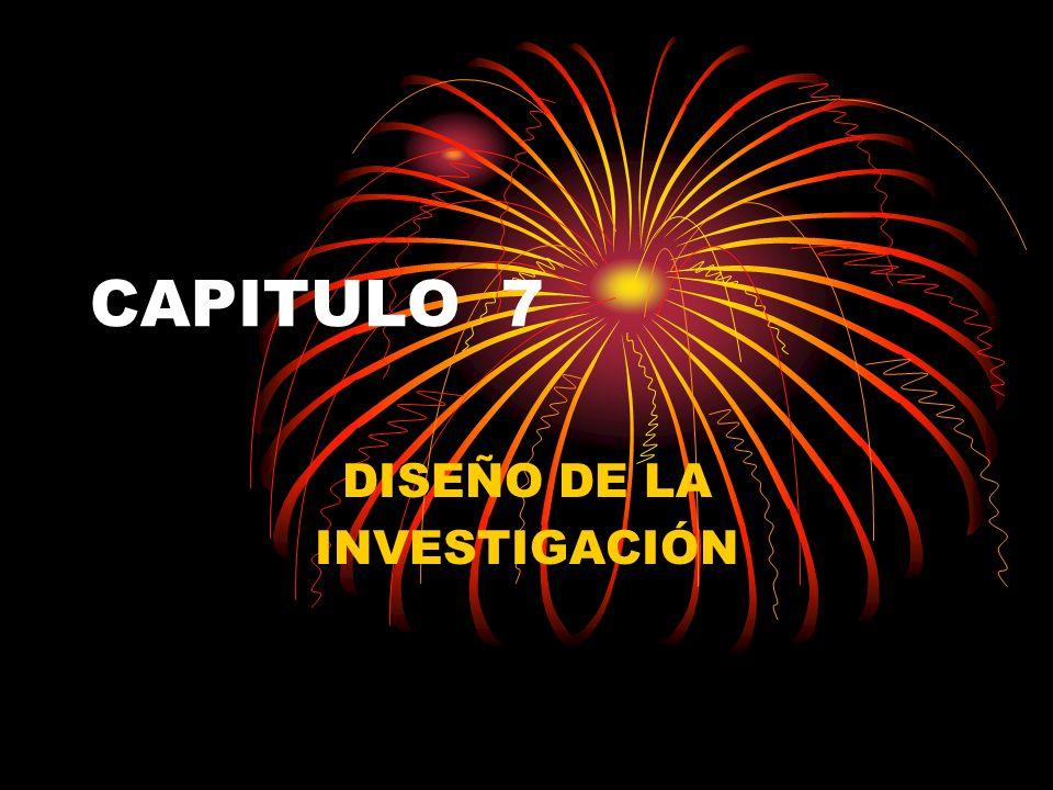 CAPITULO 7 DISEÑO DE LA INVESTIGACIÓN