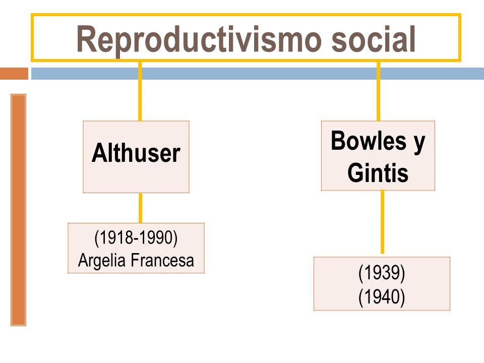 Interés: Cómo se constituye la fuerza de trabajo… Conceptos: Ideología –Aparatos del Estado Althusser