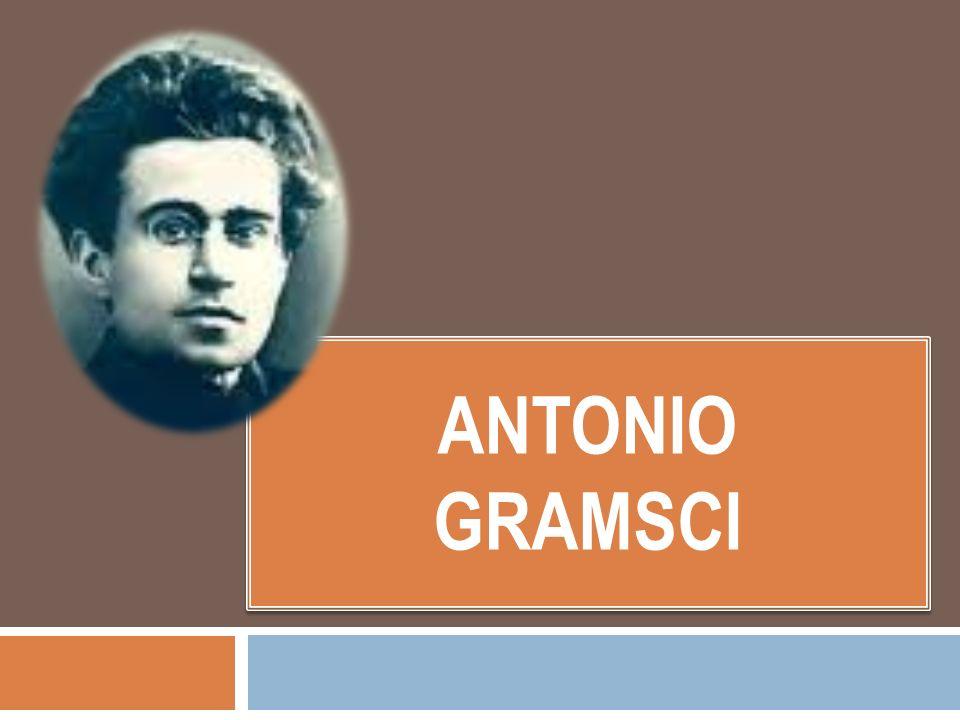 Pequeña biografía Nace en Cerdeña en 1891 y muere en 1937 a los pocos días de haber recuperado su libertad… Pertenece a una familia de precaria situación económica, por lo que le costó terminar sus estudios.
