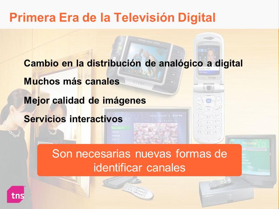 Primera Era de la Televisión Digital Muchos más canales Mejor calidad de imágenes Servicios interactivos Cambio en la distribución de analógico a digi
