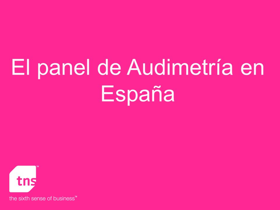 El panel de Audimetría en España