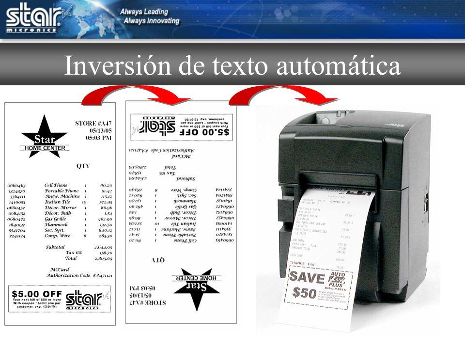 Inversión de texto automática