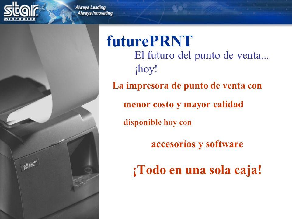 futurePRNT La impresora de punto de venta con menor costo y mayor calidad disponible hoy con accesorios y software ¡Todo en una sola caja.