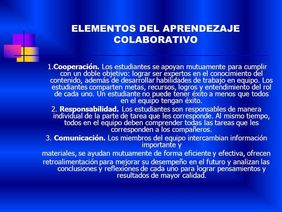 APRENDIZAJE COLABORATIVO En su sentido básico, aprendizaje colaborativo (AC) se refiere a la actividad de pequeños grupos desarrollada en el salón de