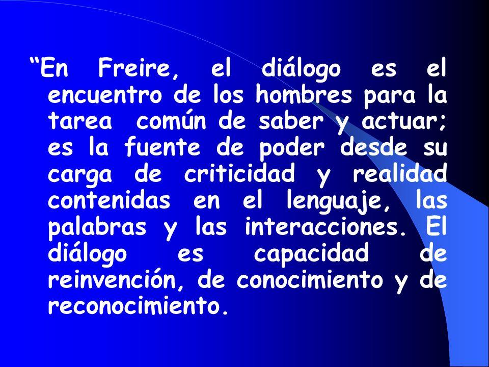 Nuestro proyecto esta enfocado a la luz de las teorías de Freire como son el dialogo, el reconocimiento y la reinvención, además de la expresión oral,