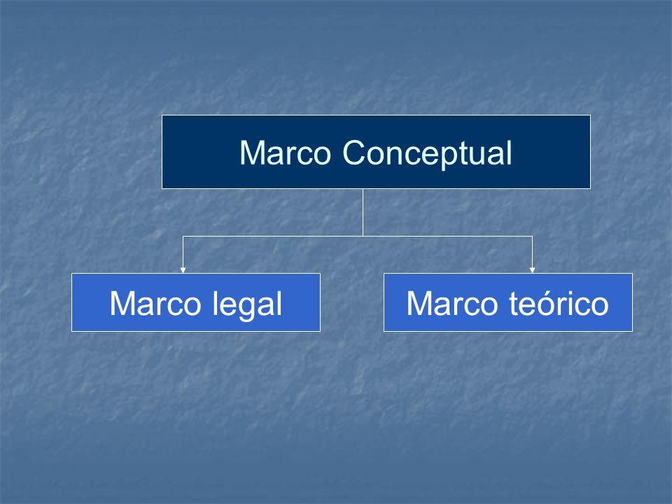 Marco Conceptual Marco legalMarco teórico