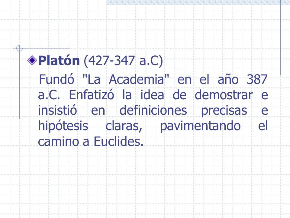 Platón (427-347 a.C) Fundó