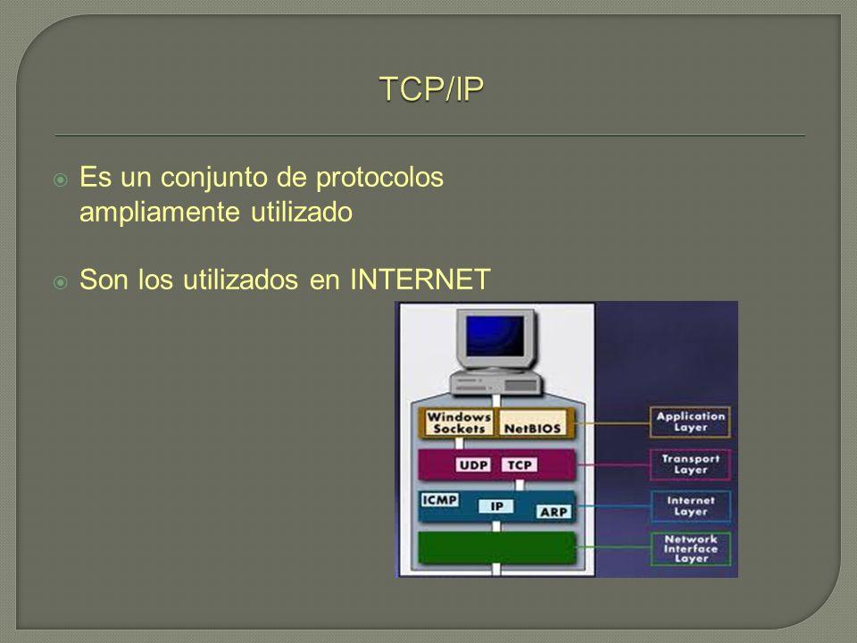 Es un conjunto de protocolos ampliamente utilizado Son los utilizados en INTERNET