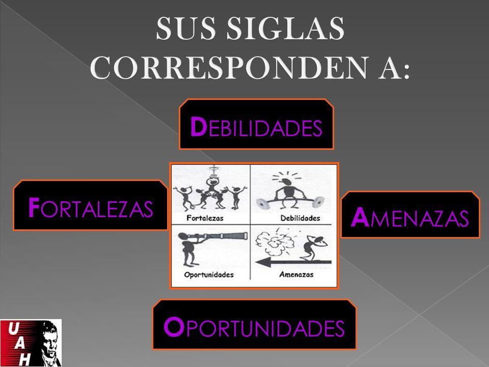 Oportunidades y Amenazas Son elementos externos, y como tales están fuera del control directo de la empresa.