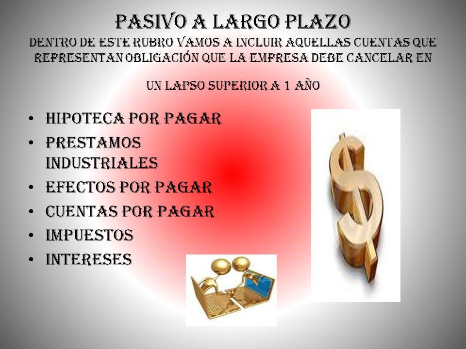 Créditos Diferidos y otros Pasivos PASIVO CREDITOS DIFERIDO ALQUILER COBRADO POR ANTICIPADO INTERESES COBRADOS POR ANTICIPADO OTROS PASIVOS PRESTACIONES SOCIALES