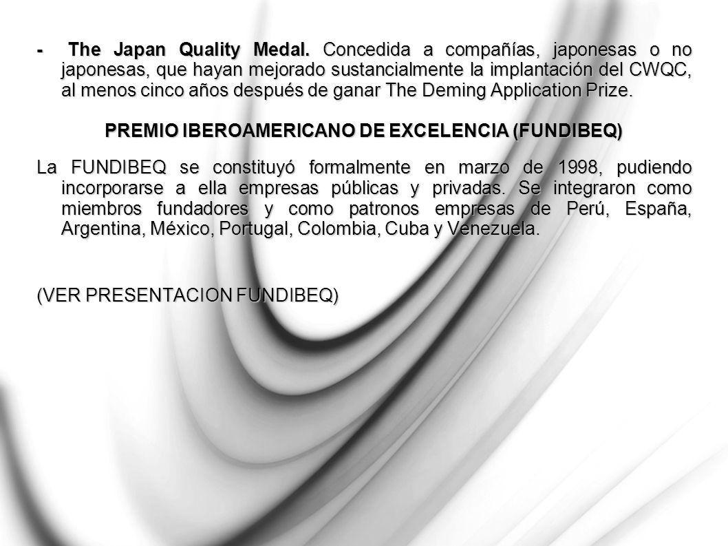 - The Japan Quality Medal.