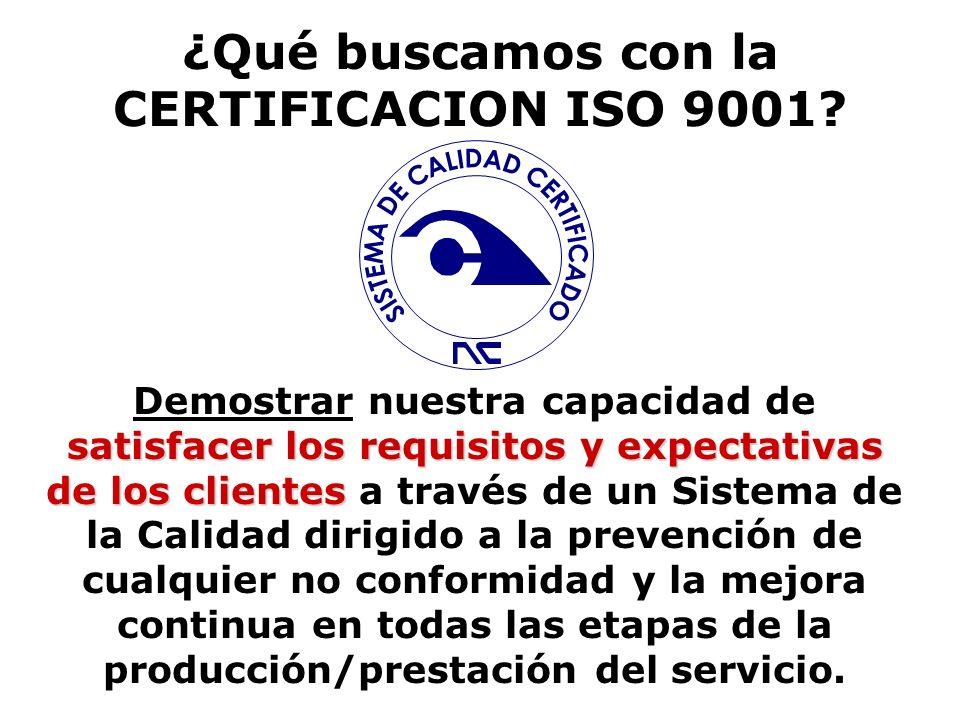 ¿Hacerlo como dice la ISO 9000? Las normas de SC no deberían confundirse con las normas de productos. Por lo nuevo de los conceptos de sistemas de cal
