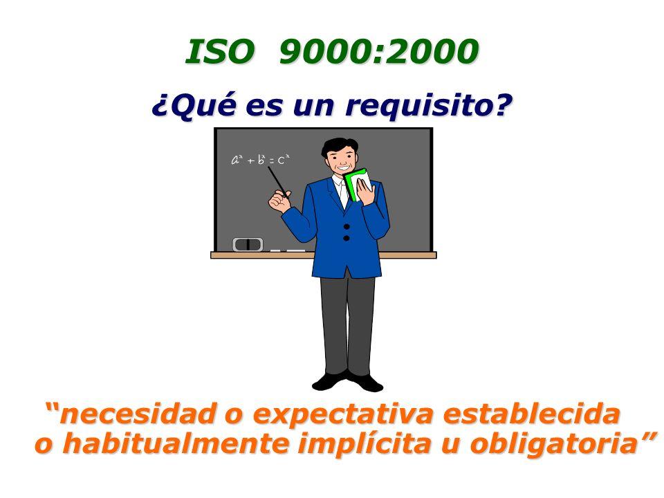 ISO 9000:2000 ¿Qué es un requisito.