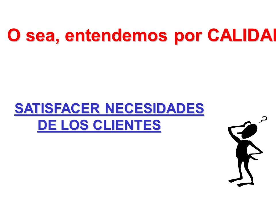 1.CONTROL DE LA CALIDAD producto 2. ASEGURAMIENTO DE LA CALIDAD cliente 3.