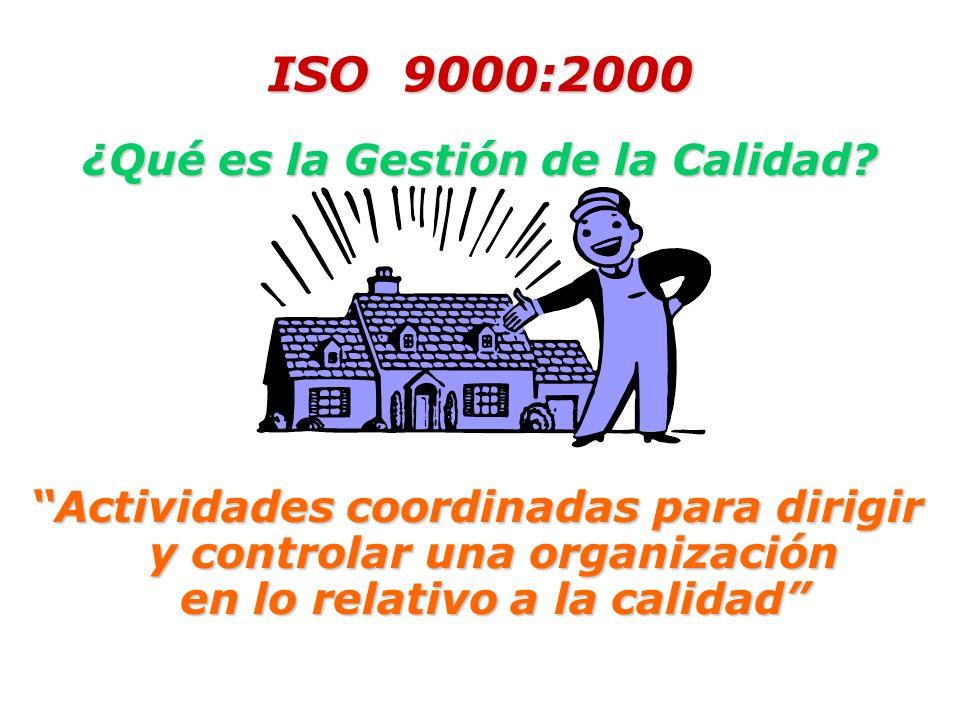 ISO 9000:2000 ¿Qué es la Gestión de la Calidad.