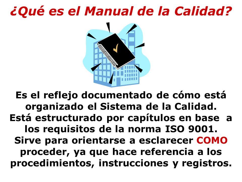Secciones de la ISO 9001:2000 1.Objeto y campo de aplicación 2.
