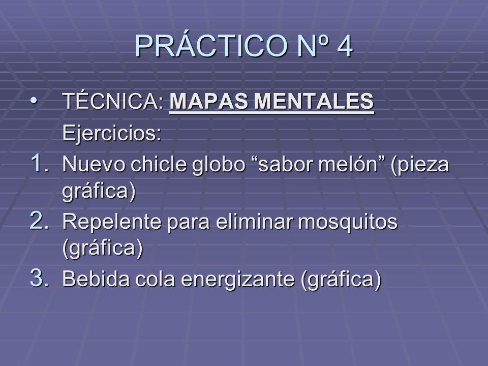 PRÁCTICO Nº 4 TÉCNICA: MAPAS MENTALES TÉCNICA: MAPAS MENTALES Ejercicios: Ejercicios: 1.