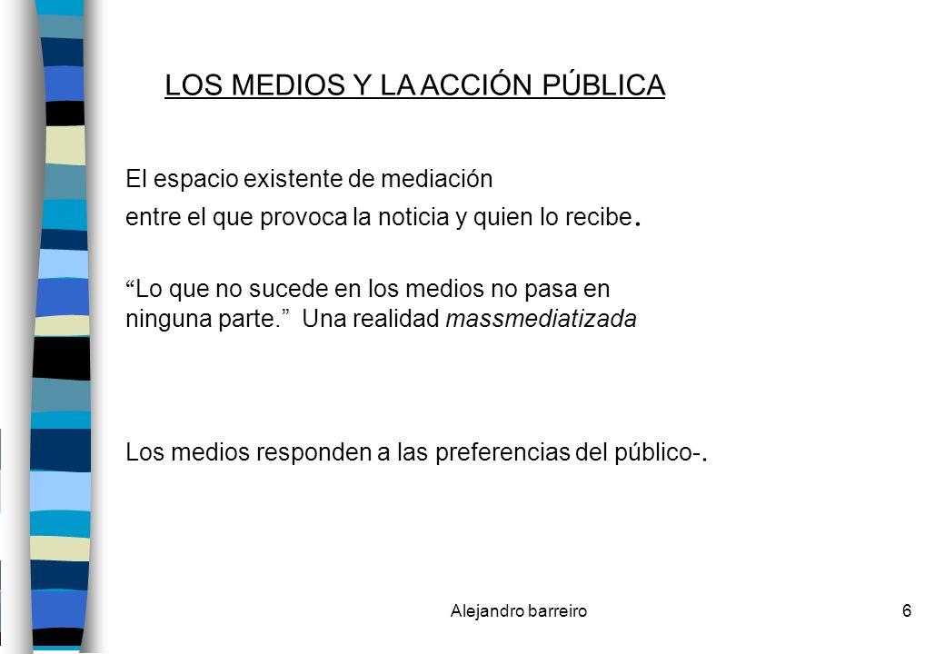 Alejandro barreiro57 Los Medios Gráficos: El contenido : Se alimenta de tres contenidos: 1)Las noticias que le dan sentido.