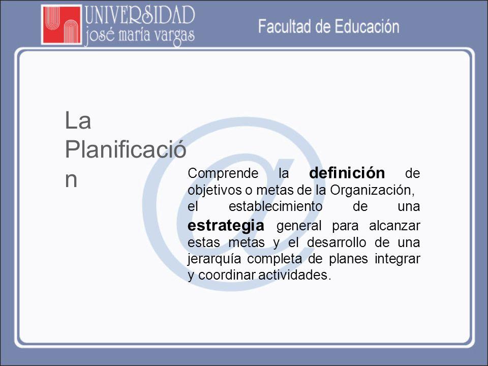 Planificación educativa es método o técnica de racionalización y organización de la acción que se aplica (o puede aplicarse) a cualquier actividad, mediante el cual un individuo, grupo de individuos, institución u organización quiere alcanzar determinados objetivos