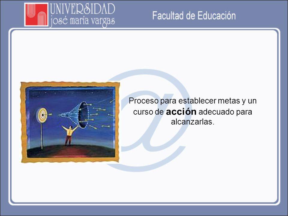 Significa definir las metas del desempeño futuro y relacionar las actividades y recursos necesarios para alcanzarlas.