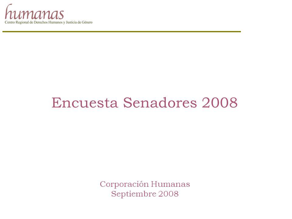 Encuesta Senadores 2008 Corporación Humanas Septiembre 2008