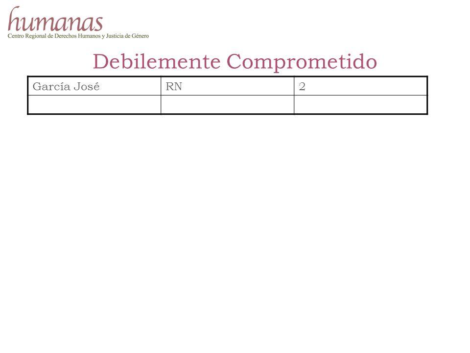 Debilemente Comprometido García JoséRN2