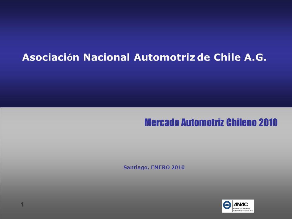 1 Asociaci ó n Nacional Automotriz de Chile A.G. Mercado Automotriz Chileno 2010 Santiago, ENERO 2010