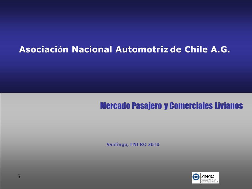 5 Asociaci ó n Nacional Automotriz de Chile A.G. Mercado Pasajero y Comerciales Livianos Santiago, ENERO 2010
