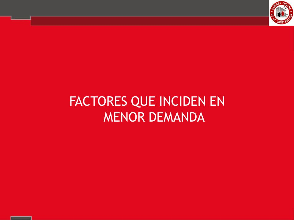 FACTORES QUE INCIDEN EN MENOR DEMANDA