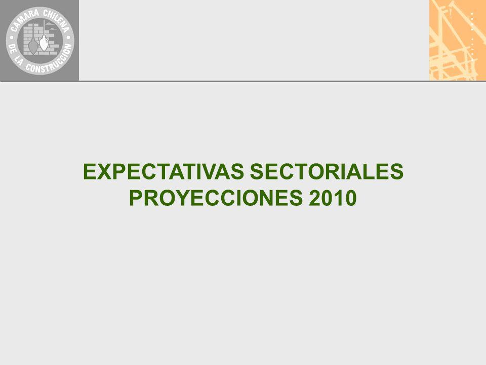 EXPECTATIVAS SECTORIALES PROYECCIONES 2010