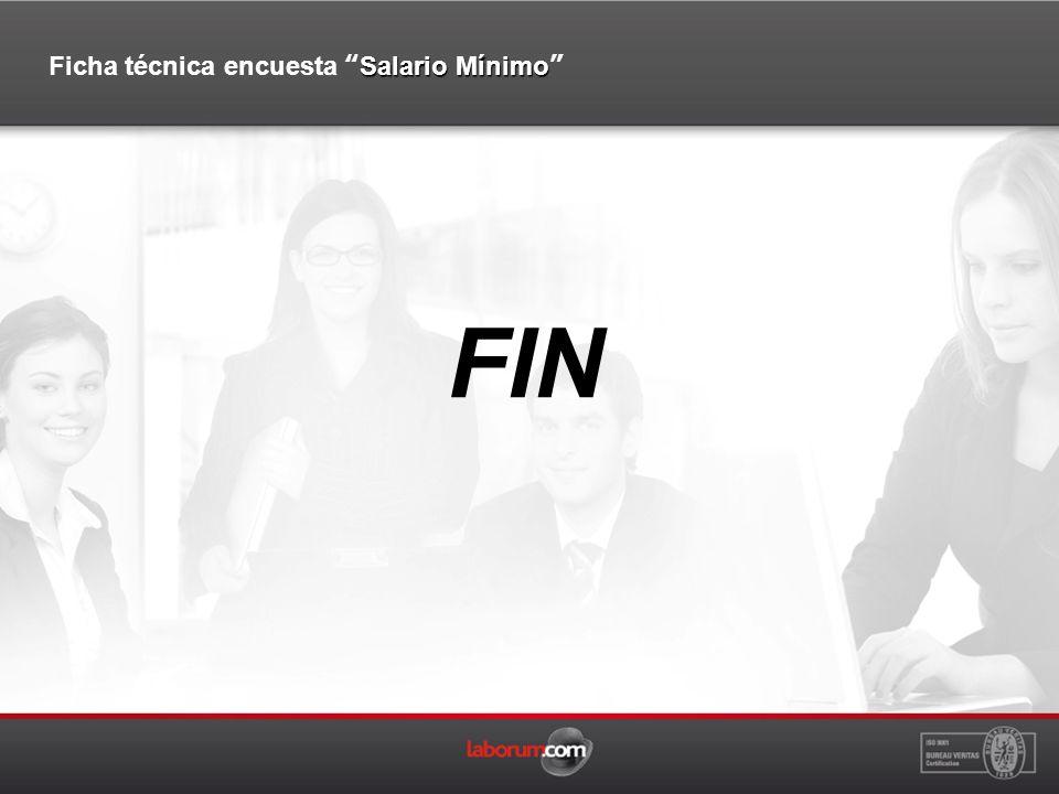 FIN Salario Mínimo Ficha técnica encuesta Salario Mínimo