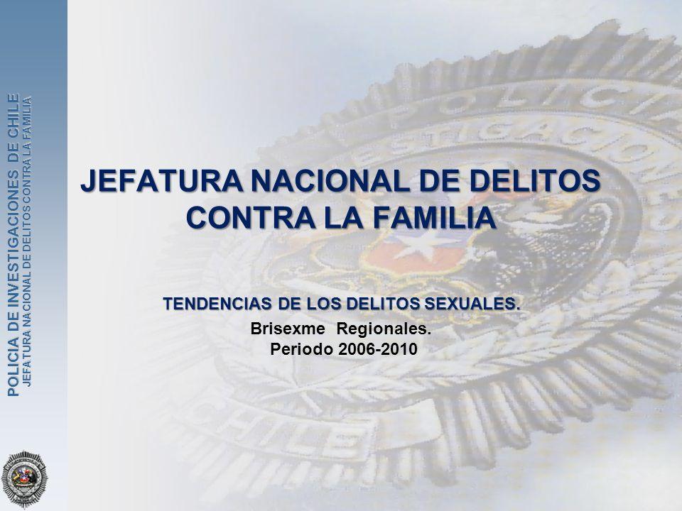 JEFATURA NACIONAL DE DELITOS CONTRA LA FAMILIA POLICIA DE INVESTIGACIONES DE CHILE JEFATURA NACIONAL DE DELITOS CONTRA LA FAMILIA TENDENCIAS DE LOS DE