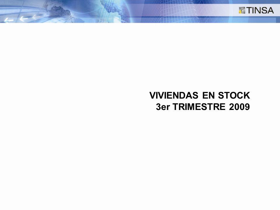 VIVIENDAS EN STOCK 3er TRIMESTRE 2009