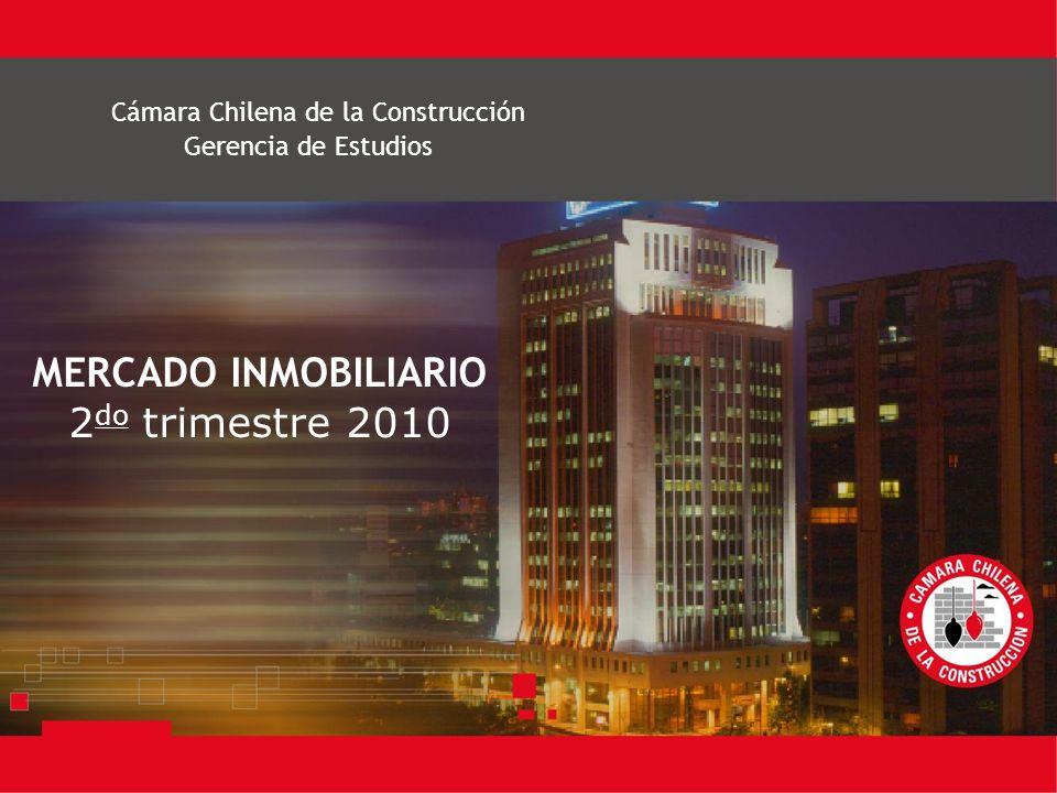 Cámara Chilena de la Construcción MERCADO INMOBILIARIO 2 do trimestre 2010 Gerencia de Estudios