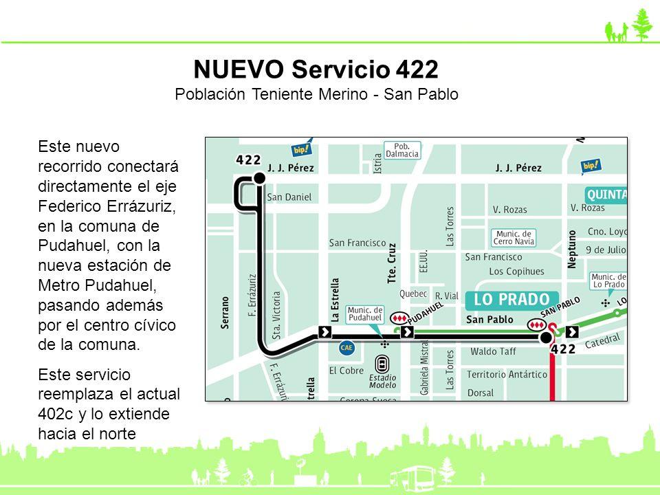 Este nuevo recorrido conectará directamente el eje Federico Errázuriz, en la comuna de Pudahuel, con la nueva estación de Metro Pudahuel, pasando adem
